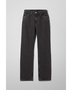 Voyage High Straight Jeans Trotter Black