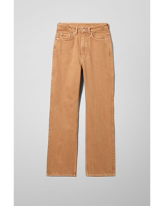 Rowe Extra High Straight Jeans Beige