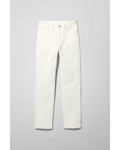 Case High Straight Split Jeans White