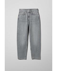 Meg High Mom Jeans Grey Mist
