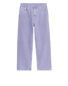 Straight Cropped Jeans Lilac