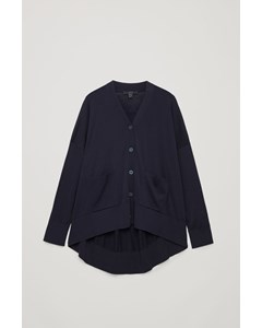 Draped Back Cardigan Navy