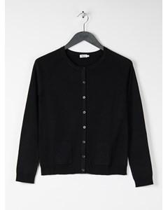 Short Merino Pocket Cardi Black