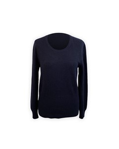 Malo Navy Blue Cashmere Knit Jumper Sweater Size 44