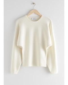 Sculptural Silhouette Sweater Creme