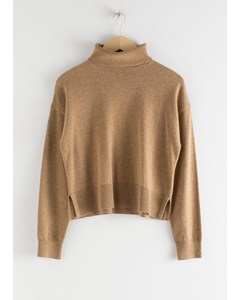 Cashmere Turtleneck Sweater Beige