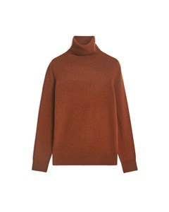 Cashmere Roll-neck Dark Orange Melange