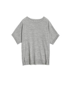 Mayla Ss Knit  Light Grey Melange