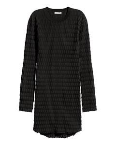 Textured-knit Jumper Black