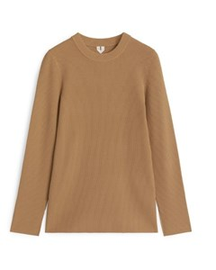 Rib Sweater Beige