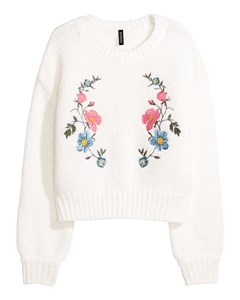 Berta Embroidered Jumper White
