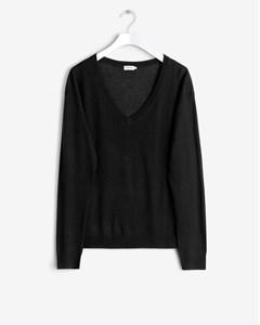 Merino V-neck Pullover Black