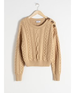 Lou Zopfmuster pullover Beige