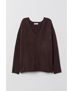 Jupiter V-neck Jumper Burgundy