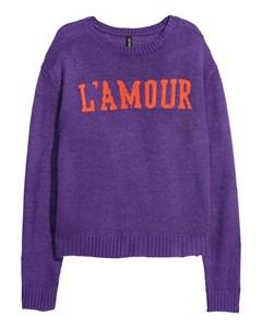 Chrissie L'amour Jumper Purple