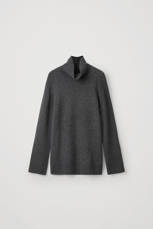 Cashmere Roll Neck Jumper Dark Grey Melange | Upp till 70