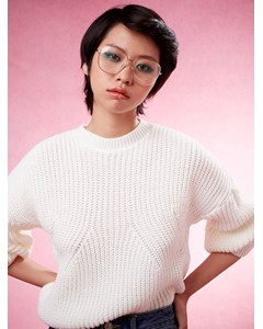 Cara Volume Sleeve Jumper Cream