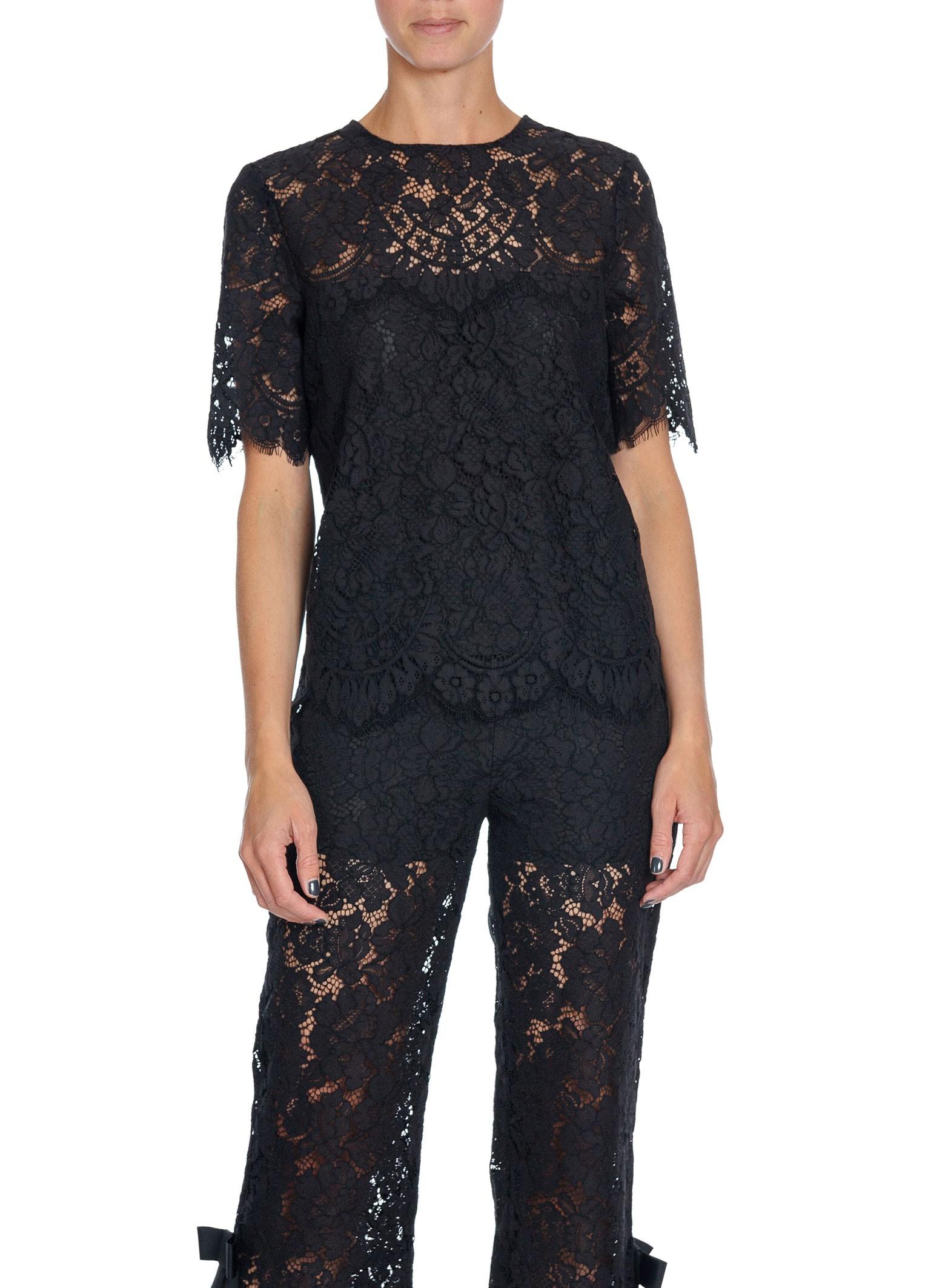 e1ab72f2 Ganni Top Duval Lace Black | Shoppa Online | Afound