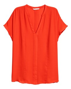 Short-sleeved Blouse Orange