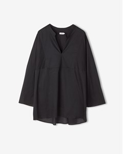Light Pleat Blouse Black