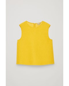 Panelled Wool Vest Top  Vibrant Yellow
