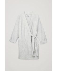 Belted Gown Top Light Grey Melange