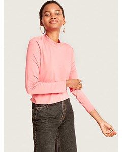 Funnel Neck Top Pink
