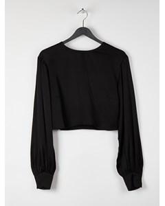 Volume Sleeve Blouse Black