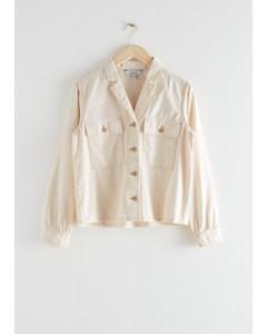 Organic Cotton Utility Shirt White
