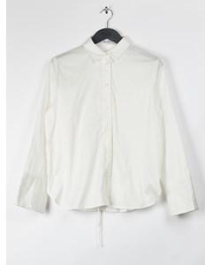 Lacing Back Shirt White