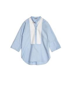 Cherry Tuxedo Shirt Soft Blue