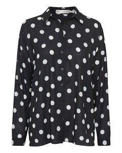 Zibi Hattie Shirt Black / White Smoke Polka Dot