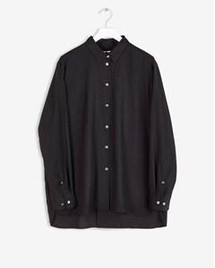 High-low Tencel Shirt Black