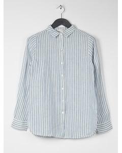 Adriana Linen Shirt Blue