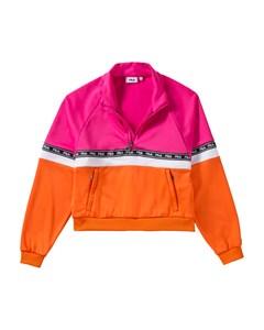 Women Chinami Half Zip Shirt Pink Yarrow-mandarin Orange-bright White