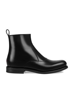 Gucci Chelsea Leather Low Boots Black