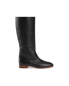 Gucci Gg Leather Boots Black