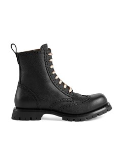 Gucci Martins Ankle Leather Boots Black