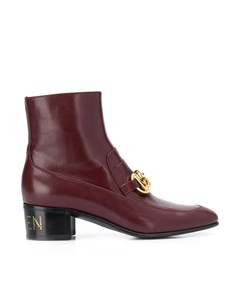 Gucci Horsebit Chain Ankle Boots Red