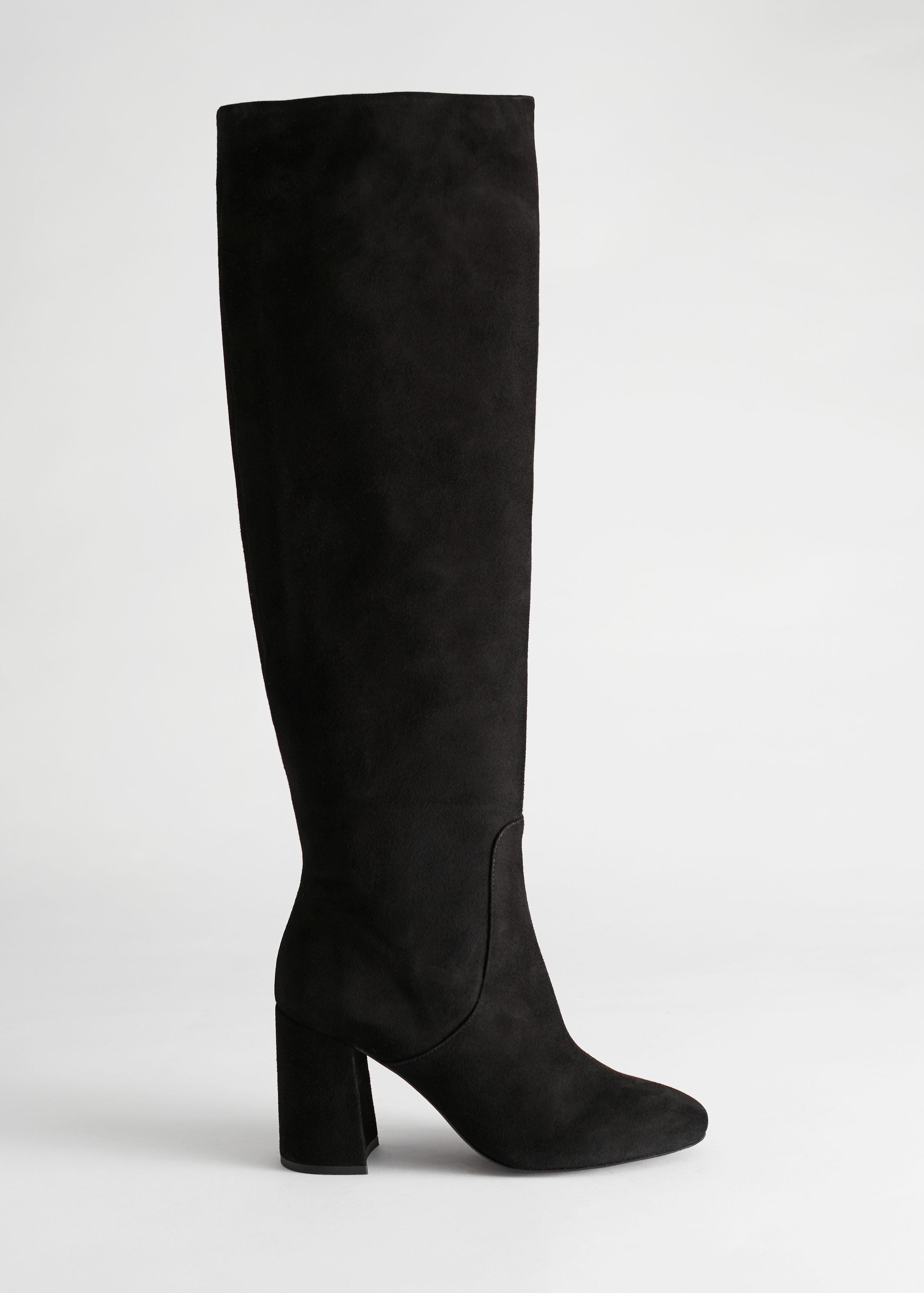 Knee High Suede Boots Black | Upp till 70% |