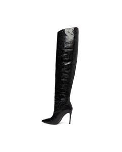 Harlow Boot (winnie Harlow) Black Croco