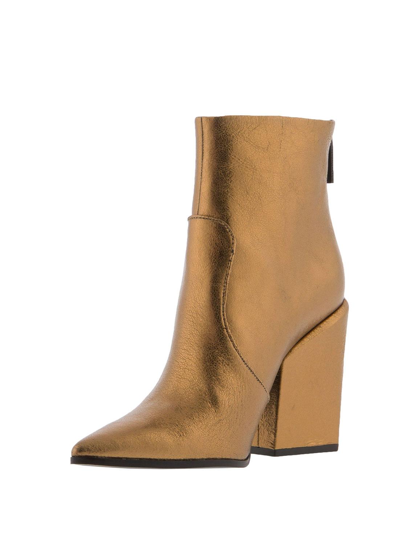 Kendall + Kylie Women's Fire Metallic Cowboy Boots Gold