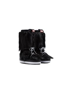 Hunter Orig Snow Boot Faux Fur Black