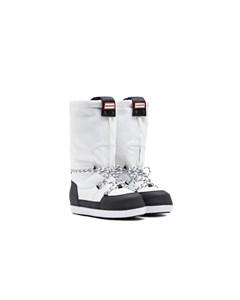 Hunter Orig Snow Boot  White/black