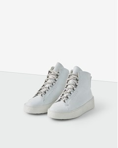 Anna Winter Laced Boot White Nubuck