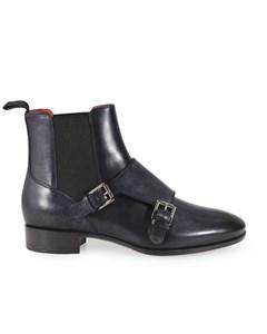 Santoni Women's Leather Ankle Boots