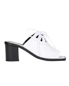 Accessoire Diffusion  - Petunia Heeled Mules - White
