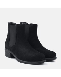 Ladies Black Suede Chelsea Boot
