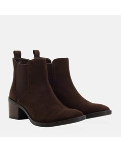Ladies Brown Suede Chelsea Boot