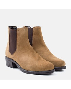 Ladies Tan Suede Chelsea Boot